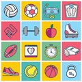 Colorful Sports Icons Royalty Free Stock Photo