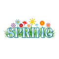 Colorful spring themed banner Royalty Free Stock Image