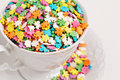 Colorful sprinkles Stock Images