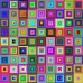 Colorful square tile mosaic background design Royalty Free Stock Photo