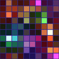 Colorful square tile mosaic with violet borders seamless background Royalty Free Stock Photo