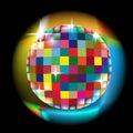 Farbistý kruh žiara účinok