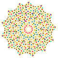 Colorful Squares Circle Royalty Free Stock Photo
