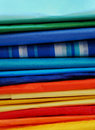 Colorful Stack of Tissue Paper Stock Image