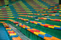 Colorful of stadium seats Royalty Free Stock Photo