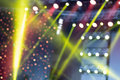 Colorful Stage Lights, light show at the Concert, Blurred lights Royalty Free Stock Photo