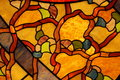 Colorful stained glass ceiling closeup Royalty Free Stock Photo