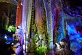 Colorful stalactite the lights light the deep beauty of the Royalty Free Stock Photo