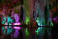 Colorful Stalactites Reflection Royalty Free Stock Photography