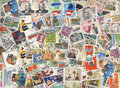 Colorful stamps background Royalty Free Stock Photo