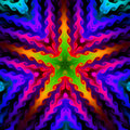 Colorful Star Background, fractal094R Stock Photography