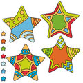 Colorful star collection Royalty Free Stock Photo