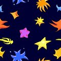 Colorful star pattern, vector illustration.