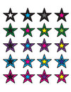 Colorful stars Stock Photography