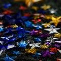 Colorful stars Stock Photos
