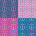 Colorful stars background collection pattern on blue purple and pink Stock Photography