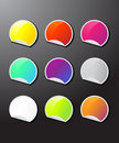 Colorful sticker icons Royalty Free Stock Photo
