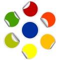 Colorful sticker , postit set Royalty Free Stock Photo