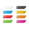 Colorful Stickers Royalty Free Stock Photo