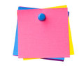 Colorful sticky notes Royalty Free Stock Photography