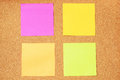 Colorful sticky notes Royalty Free Stock Photos