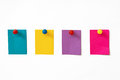 Colorful sticky notes white background Stock Photo