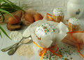 Colorful still lifes with pastries. Royalty Free Stock Photo