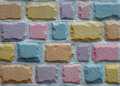 Colorful stone block wall Royalty Free Stock Photo