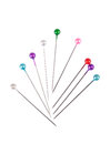 Colorful straight pins Royalty Free Stock Photography