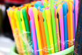 Colorful of straw on sale Royalty Free Stock Images