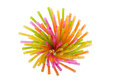 Colorful straws arranged in a glass Stock Images