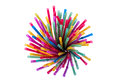 Colorful straws arranged in a glass Stock Photography
