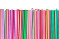 Colorful straws isolated on white Royalty Free Stock Photo