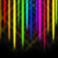 Colorful streaks background shows space and colors display showing Stock Photo