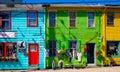 Colorful Street, Halifax, Nova Scotia, Canada Royalty Free Stock Photo