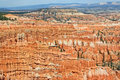 Colorful, striped hoodoos in Bryce Canyon NP Stock Photography