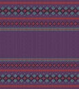 Colorful striped pattern on purple background