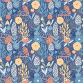 Colorful stylized flowers. Seamless pattern for decoration postcards and other surfaces