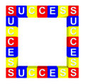 Colorful of success box Stock Photo