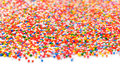 Colorful sugar sprinkles-Rainbow Colored Royalty Free Stock Photo