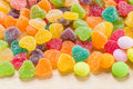 Colorful sugary candy heart shape Royalty Free Stock Photo