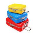 Colorful Suitcases Royalty Free Stock Images