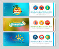Colorful summer holidays and travel banners Royalty Free Stock Photo