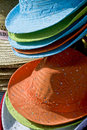 Colorful summer sun hats Royalty Free Stock Photo