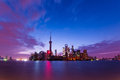 Colorful sunrise of Shanghai Stock Photos