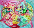 Colorful Surreal Eyes and Faces Royalty Free Stock Photo