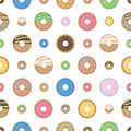 Colorful and sweet donuts. Seamless pattern