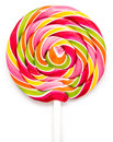 Colorful sweet lollipop for children on white background Stock Images