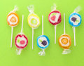 Colorful sweet lollipops Royalty Free Stock Images
