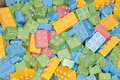 Colorful sweet and sour candy building blocks Royalty Free Stock Photo